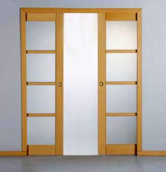 Portes coulissantes bois