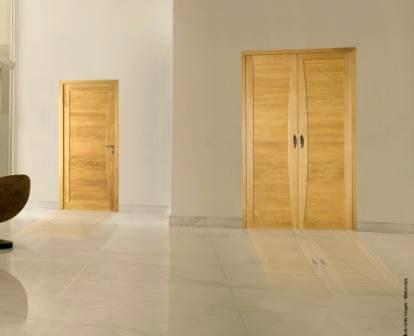Porte double en bois